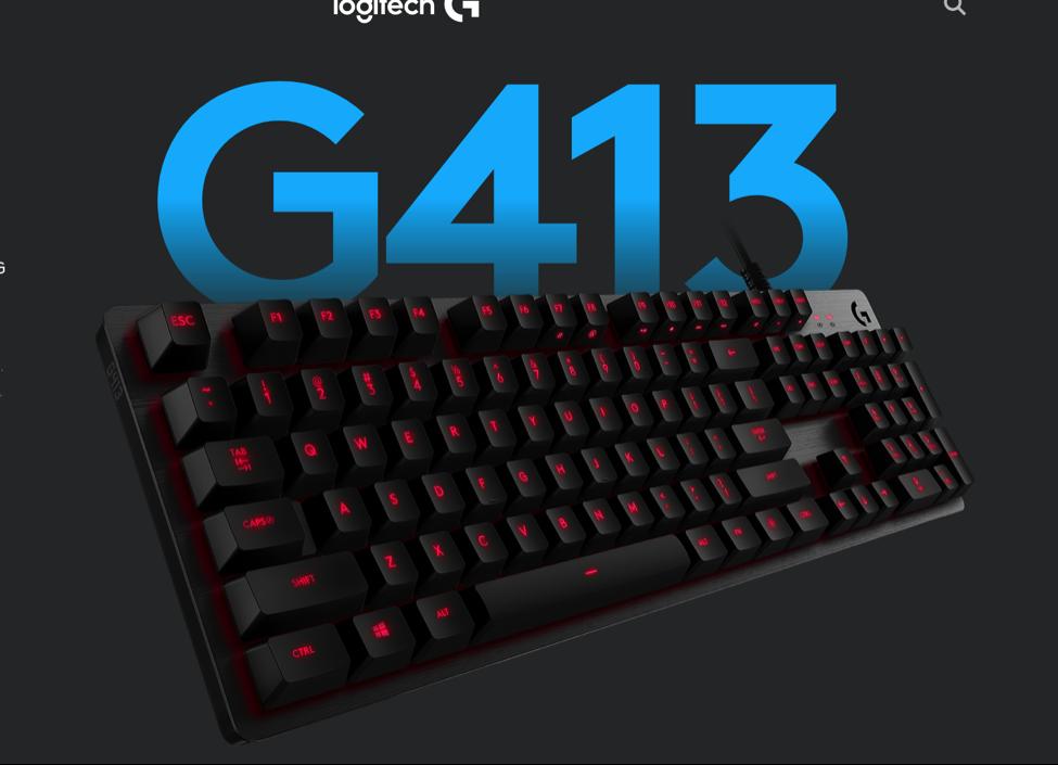 Bàn phím Gaming Logitech G413 Carbon - Có dây