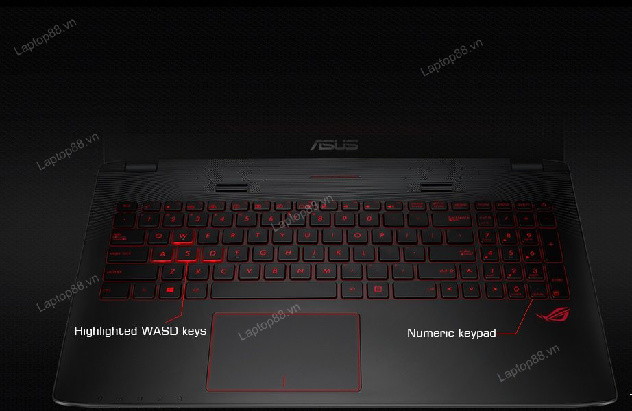 Laptop Gaming Asus GL552VX (Core i7 6700HQ, RAM 8GB DDR4, Nvidia Geforce GTX 950M, HDD 1TB, LCD 15.6 inch; FullHD)6