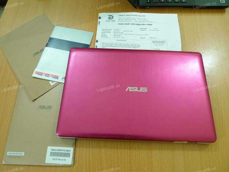 Laptop Asus Vivobook X202E Pink (Celeron 847, RAM 2GB, HDD 500GB, 11.6 inch cảm ứng touch screen)6
