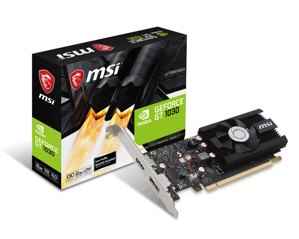 Card đồ họa VGA MSI Geforce GT 1030 2G LP OC (2GB GDDR5, 64-bit, HDMI+DP)