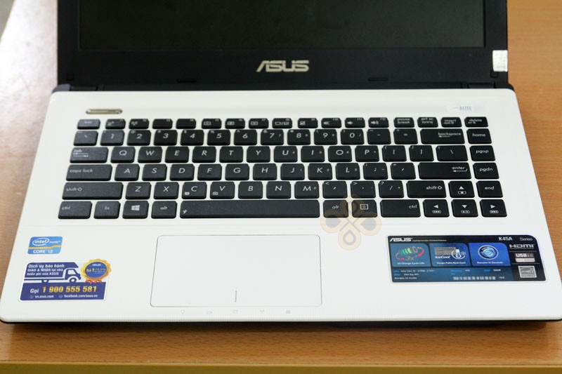 Laptop Asus K45A White (Core i3 3110M, RAM 4GB, HDD 500GB, Intel HD Graphics 4000, 14 inch)3
