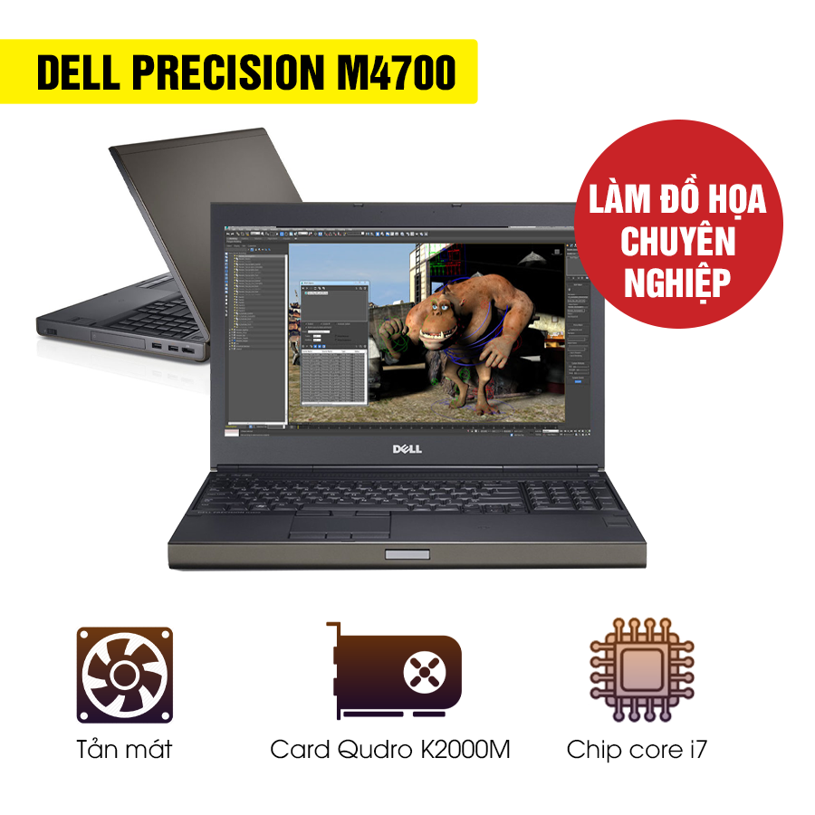 Laptop cũ Dell Precision M4700 - Intel Core i7
