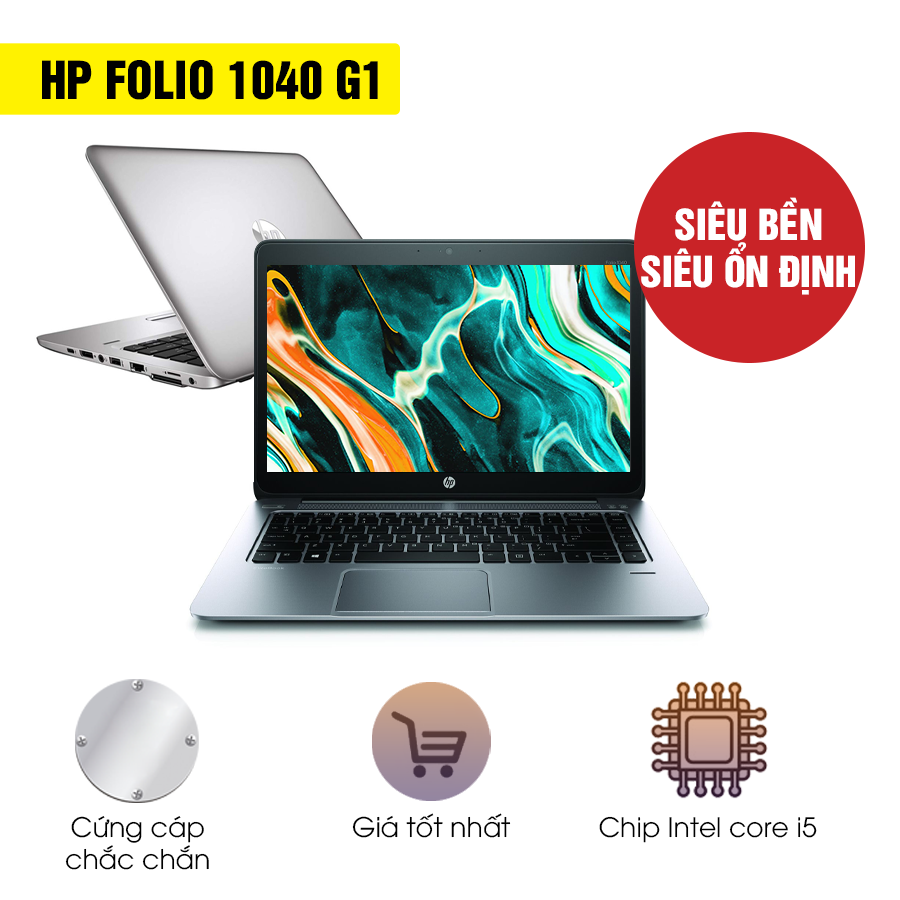 Laptop cũ HP Folio 1040 G1 - Intel Core i5