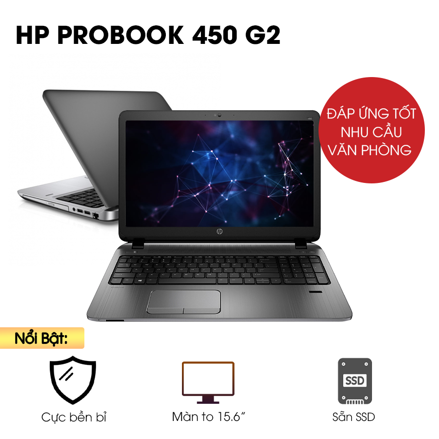 Laptop cũ HP Probook 450 G2 - Intel Core i5