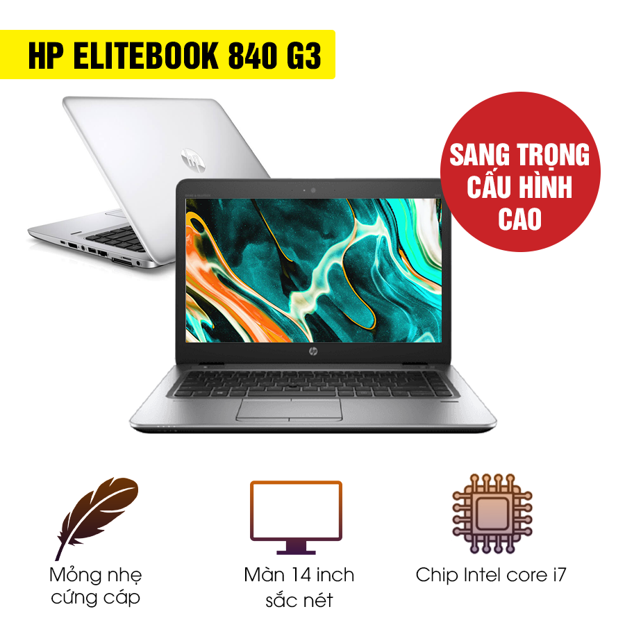 Laptop cũ HP Elitebook 840 G3  - Intel Core i7