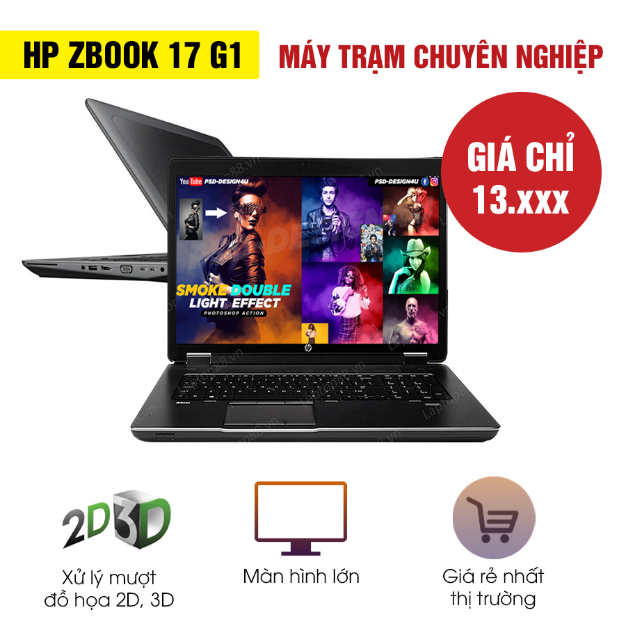 Laptop cũ HP Zbook 17 G1 - Intel Core i7