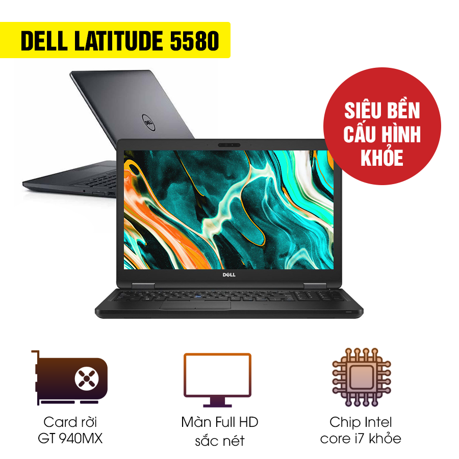 Laptop Cũ Dell Latitude 5580 - Intel Core i7