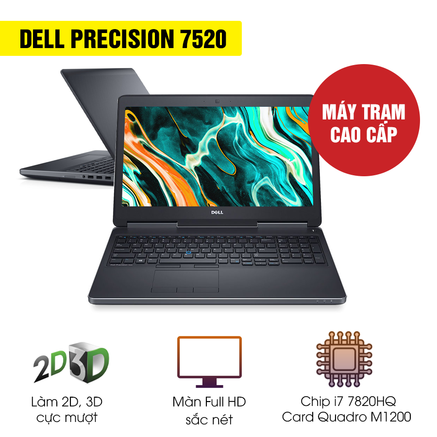 Laptop Workstation Cũ Dell Precision 7520 - Intel Core i7