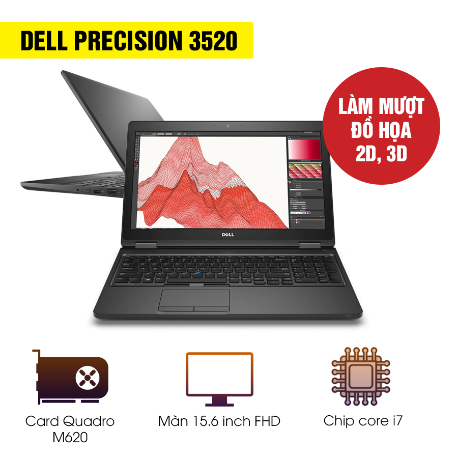 Laptop Cũ Dell Precision 3520 - Intel Core i7
