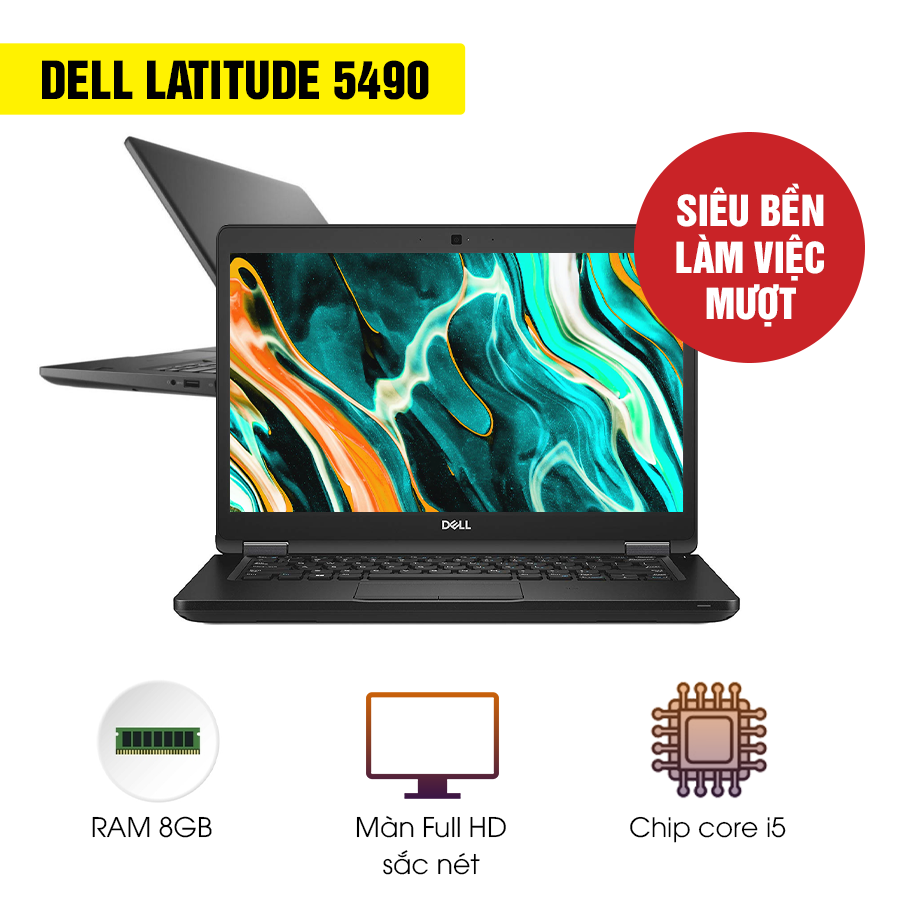 Laptop Cũ Dell Latitude 5490 - Intel Core i5