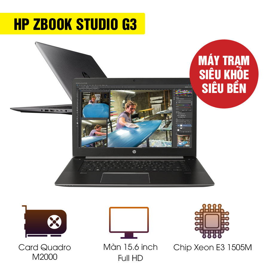 Laptop Workstation Cũ HP Zbook Studio G3 - Intel Core i7