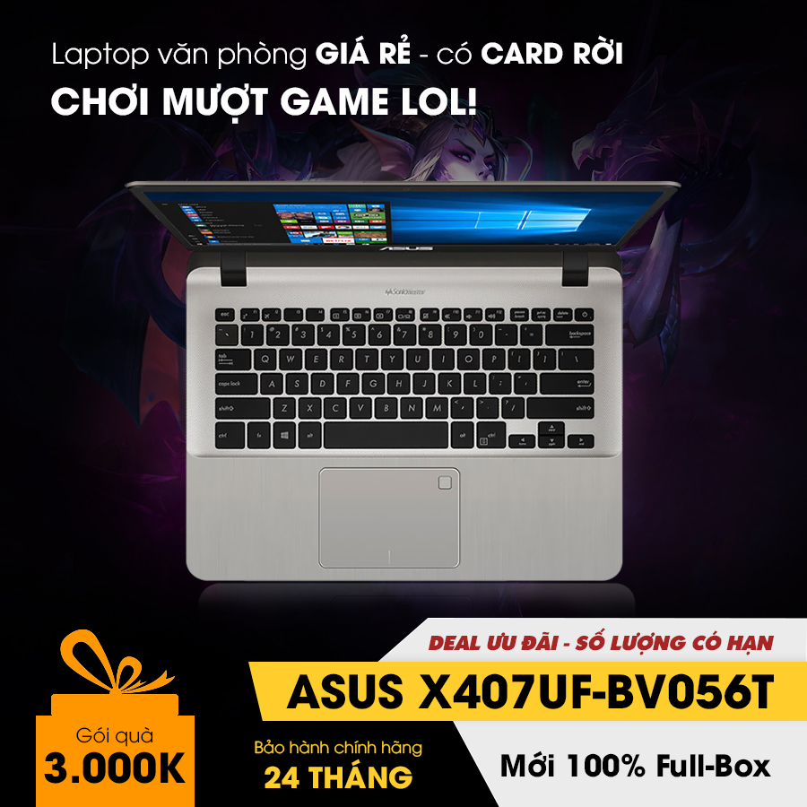[Mới 100% Full Box] Laptop Asus X407UF-BV056T - Intel Core i5