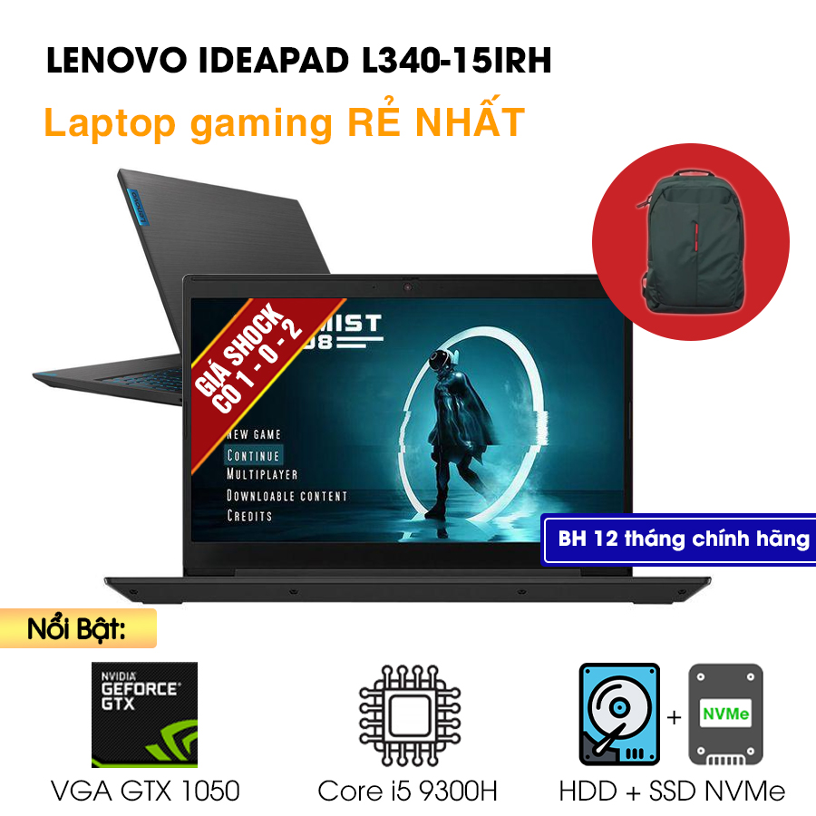 [Mới 100% Full box] Lenovo Ideapad L340-15IRH 81LK00FAVN - Intel Core i5