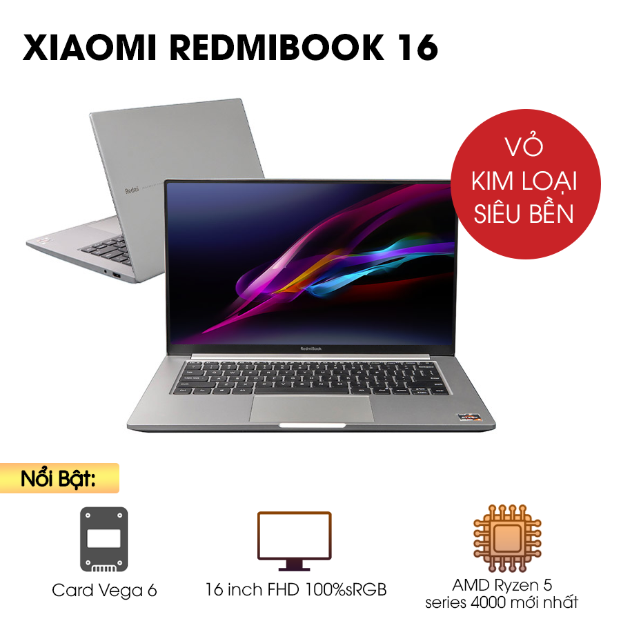 [Mới 100% Full Box] Laptop Xiaomi Redmibook 16 XMA2002- AN / AJ  - AMD Ryzen 5