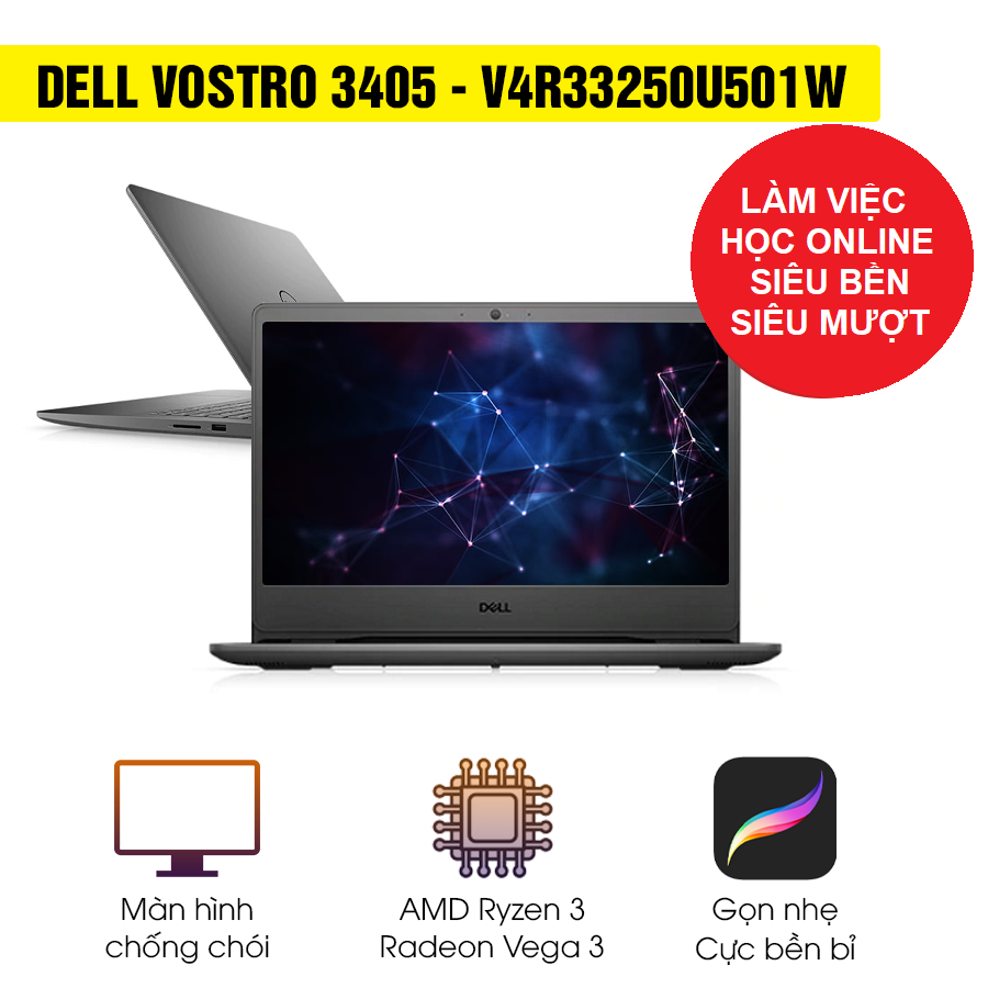 [Mới 100% Full Box] Laptop Dell Vostro 3405 V4R33250U501W - AMD Ryzen 3