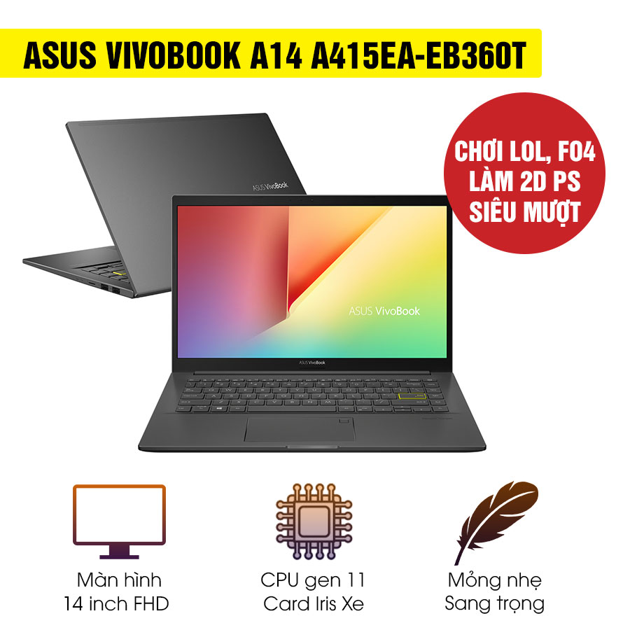 [Mới 100% Full Box] Laptop Asus Vivobook A14 A415EA-EB360T - Intel Core i5