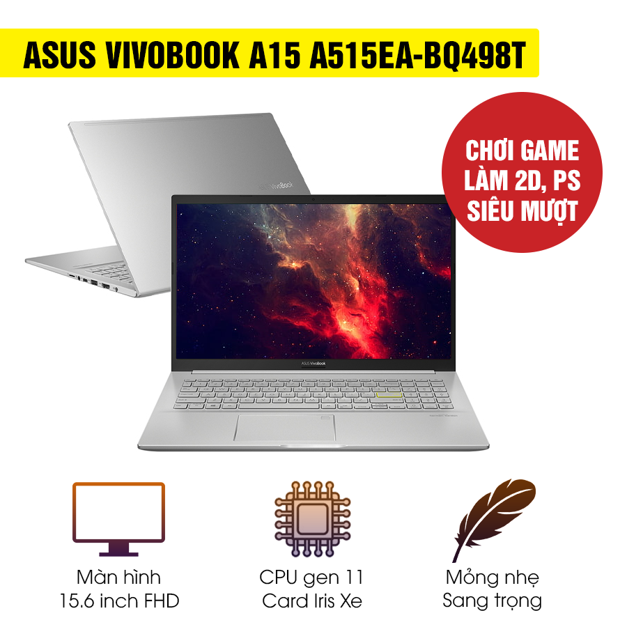 [Mới 100% Full Box] Laptop Asus Vivobook A15 A515EA-BQ498T - Intel Core i5