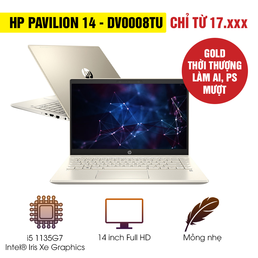[Mới 100% Full Box] Laptop HP Pavilion 14-dv0008TU 2D7A5PA - Intel Core i5