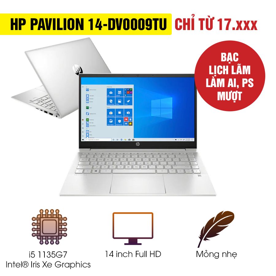 [Mới 100% Full Box] Laptop HP Pavilion 14-dv0009TU 2D7A7PA - Intel Core i5