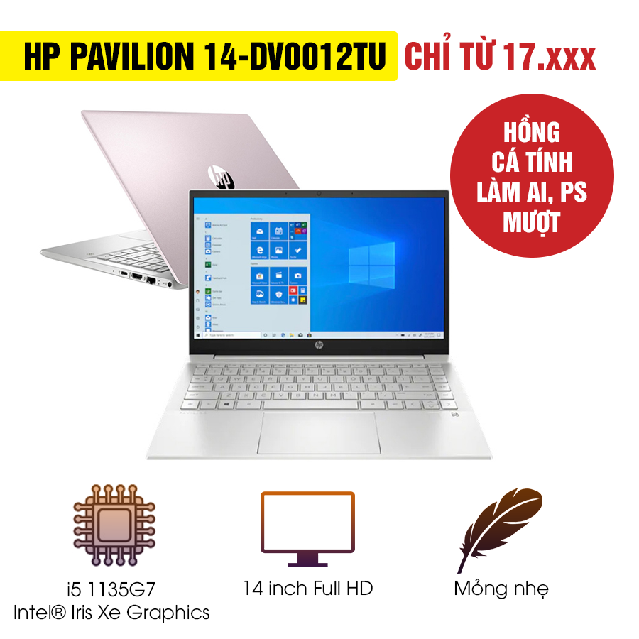 [Mới 100% Full Box] Laptop HP Pavilion 14-dv0012TU 2D7B7PA - Intel Core i5
