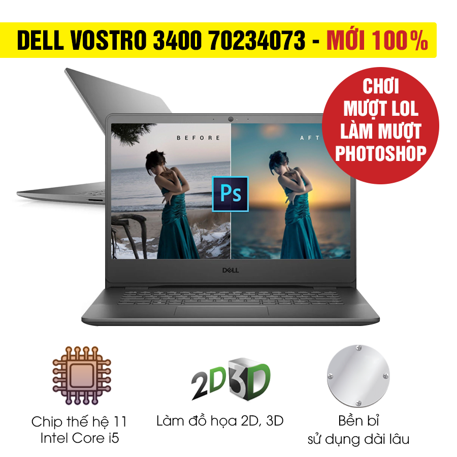 [Mới 100% Full Box] Laptop Dell Vostro 3400 70234073 - Intel Core i5