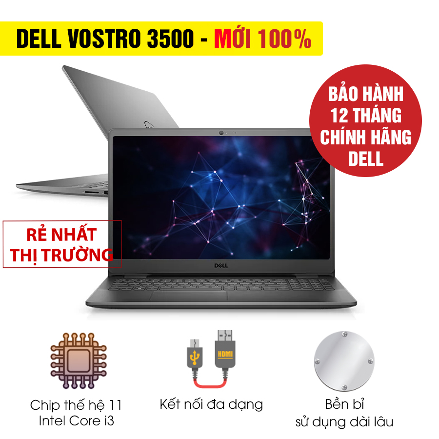 [Mới 100% Full Box] Laptop Dell Vostro 3500 V5I3001W - Intel Core i3
