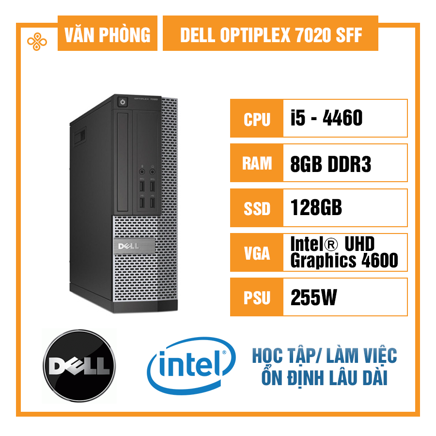 Case đồng bộ Dell OptiPlex 7020 SFF (Small Form Factor) - Intel Core i5