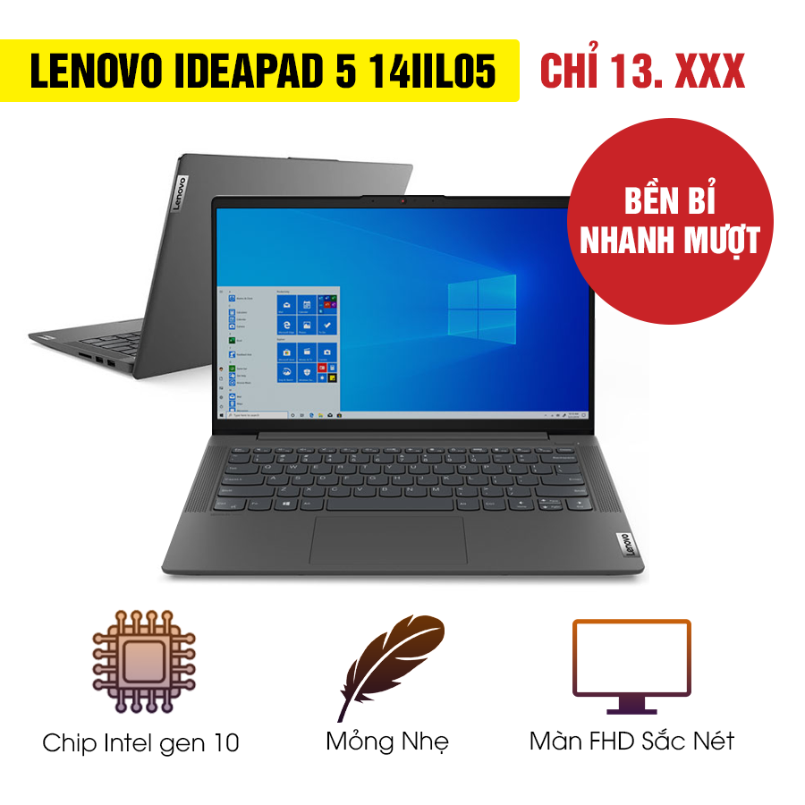 [Mới 99% Refurbished] Laptop Lenovo IdeaPad 5 14IIL05 81YH0017US - Intel Core i5