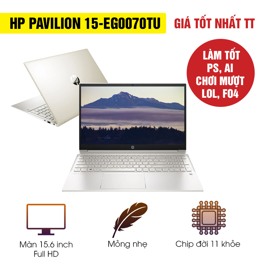 [Mới 100% Full Box] Laptop HP Pavilion 15-eg0070TU 2L9H3PA - Intel Core i5